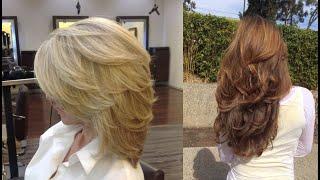 Женские стрижки: каскад на средние волосы: модные, красивые, слоями. Лесенка. Фото.