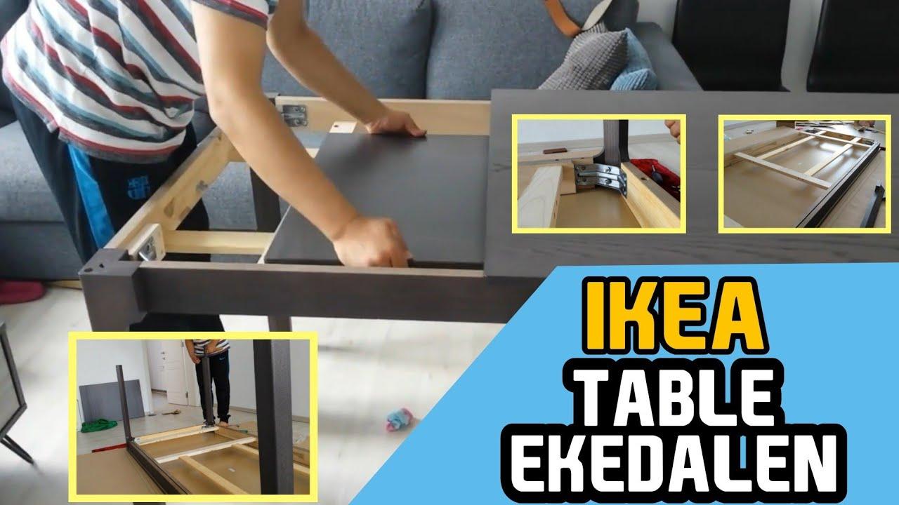 Ekedalen ikea uitschuifbare tafel donkerbruin youtube