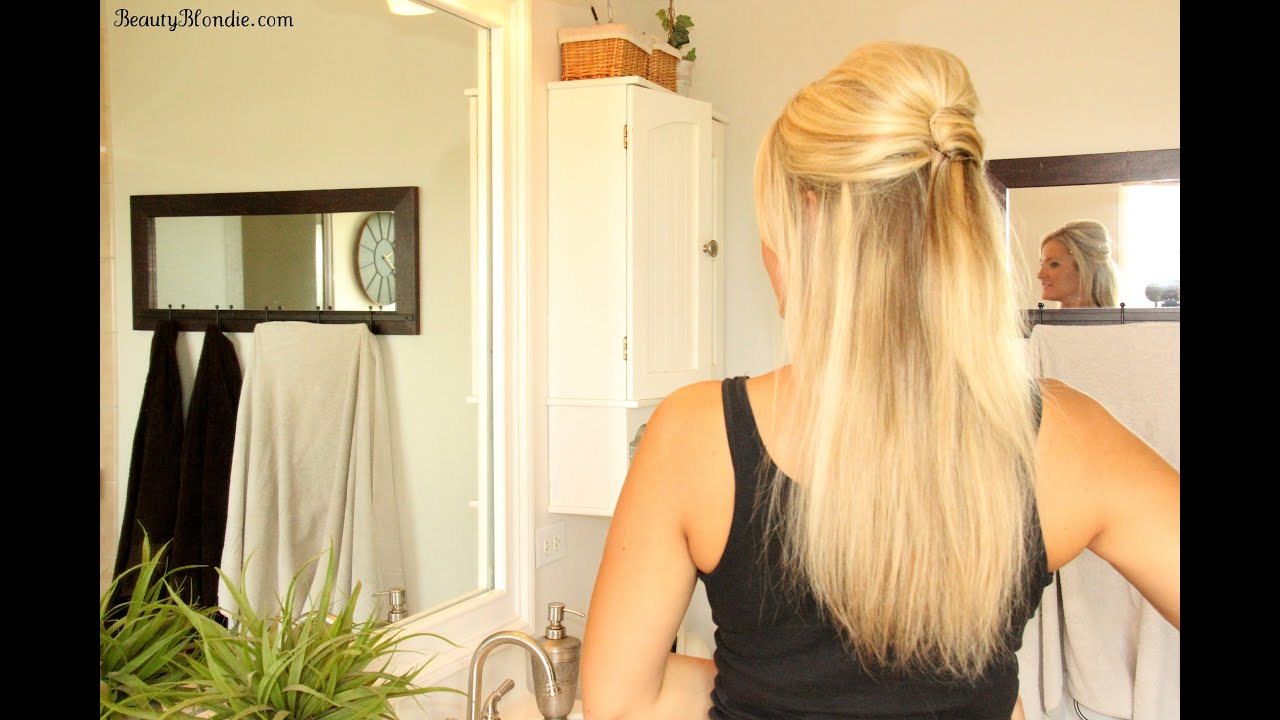 The Easiest Half Up Half Down Upside Down French Twist