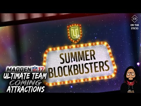 Madden 17 Ultimate Team Summer Blockbuster: Coming Attractions Solos #MUT