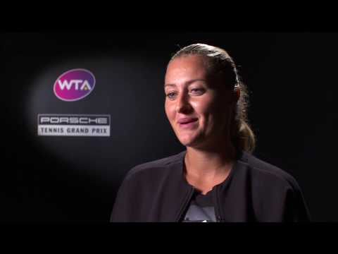 Interview Kristina Mladenovic (FRA) semi finals - Porsche Te