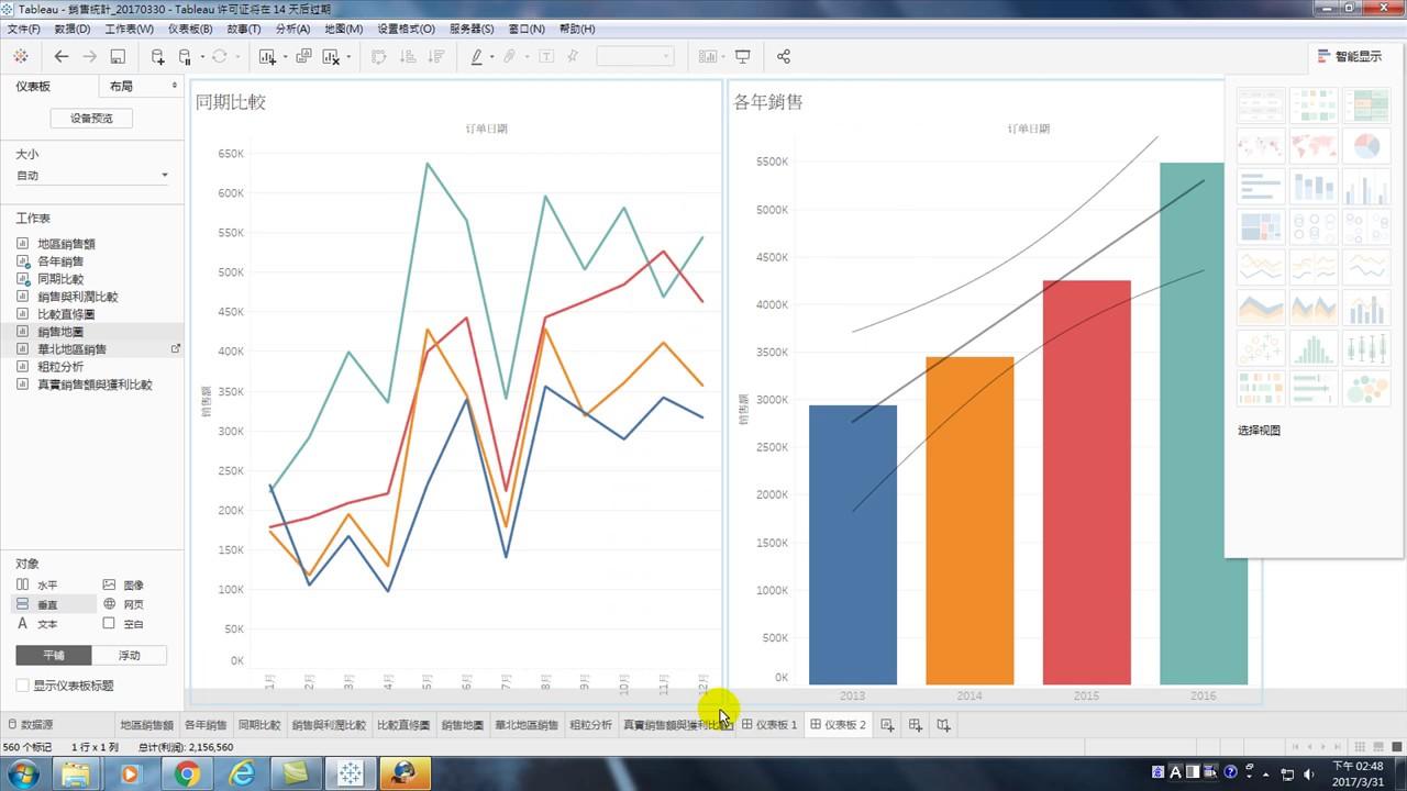 用Tableau做大數據分析基礎:40.儀表板應用範例 - YouTube