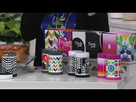 French Bull Set of 2 Stainless Steel 16-oz Food Jars with Gift Boxes on QVC