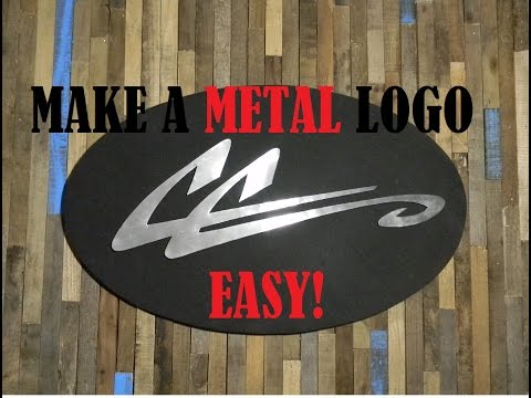 Make A Logo Out Of Metal, Easy! - Wall Art with Conrad Craft