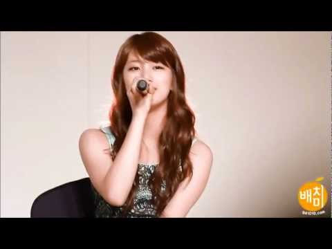 miss A's Suzy singing in English (1/3)