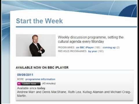 BBC 4 Start the Week, 9th May 2011, The People