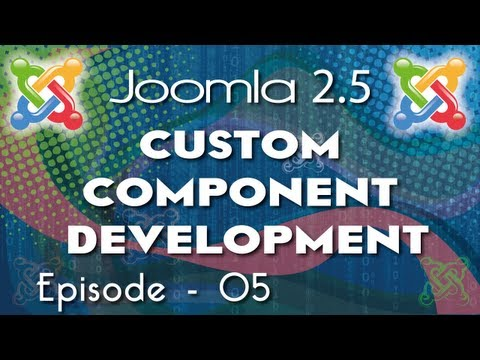 Joomla 2.5 Custom Component Development - Ep 5 - How To Use Backend Controller  In Joomla Component