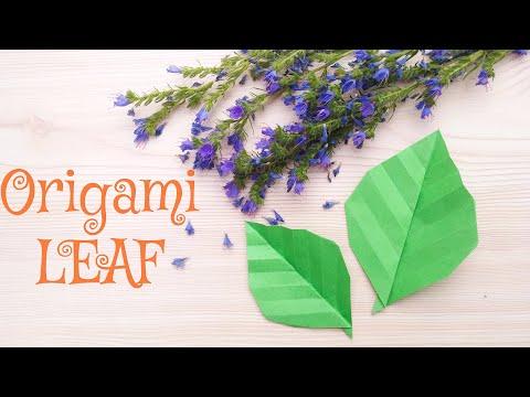 How To Make Origami Leaf - DIY