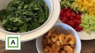 2019 Dag 112   Salat med Tigerreker & sminkevideo
