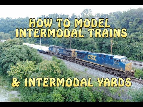 Railroad Intermodal Trains and How To Model Them & Track Plans.