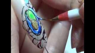 Разноцветное литье, натуральный янтарь и жидкие камни. Бутенко Наталия