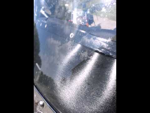 Bugs on windshield