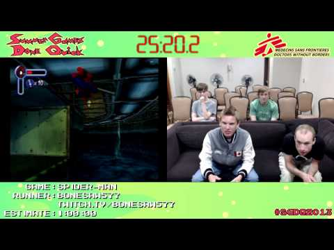 Spider Man :: SPEED RUN in 0:41:55 by Bonesaw577 [PS1] #SGDQ 2013
