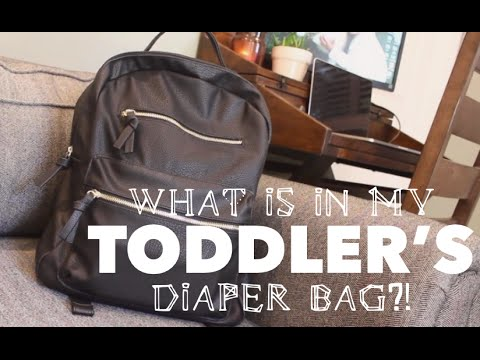 WHAT'S IN MY TODDLER'S DIAPER BAG?!