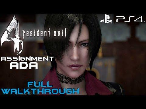 Resident Evil 4 (PS4) - Assignment Ada Full Gameplay Walkthrough [1080P 60FPS]