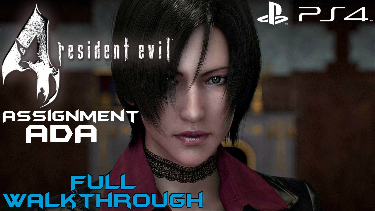 Resident Evil 4 Ps4 Assignment Ada Full Gameplay Walkthrough