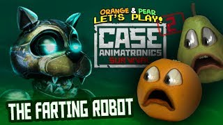 annoying orange and pear play case animatronics 2 farting robots