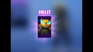I bought the Halloween Follet skin on Fortnite Battle Royale!