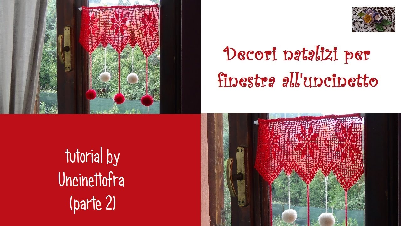Decori natalizi per finestra all 39 uncinetto tutorial pa - Decori natalizi per vetri ...