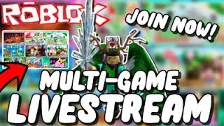 🔴[ROBLOX LIVE]🔴 | Multi Game Stream | Playing with Fans | JOIN US! #RoadTo2000
