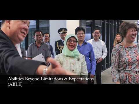 President Halimah Yacob visits Agape Village | Caritas Singapore