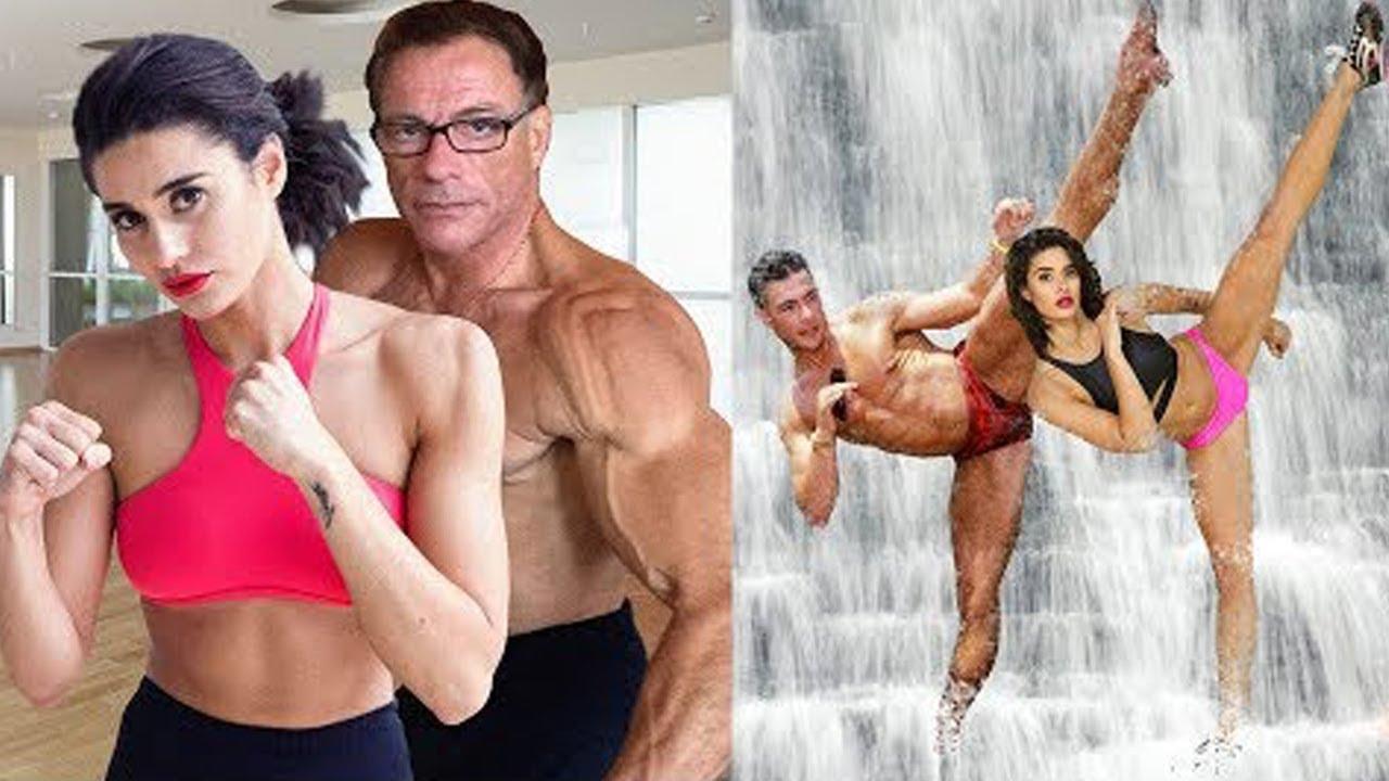 Filha de Van Damme é tão Flexível Quanto o PAI
