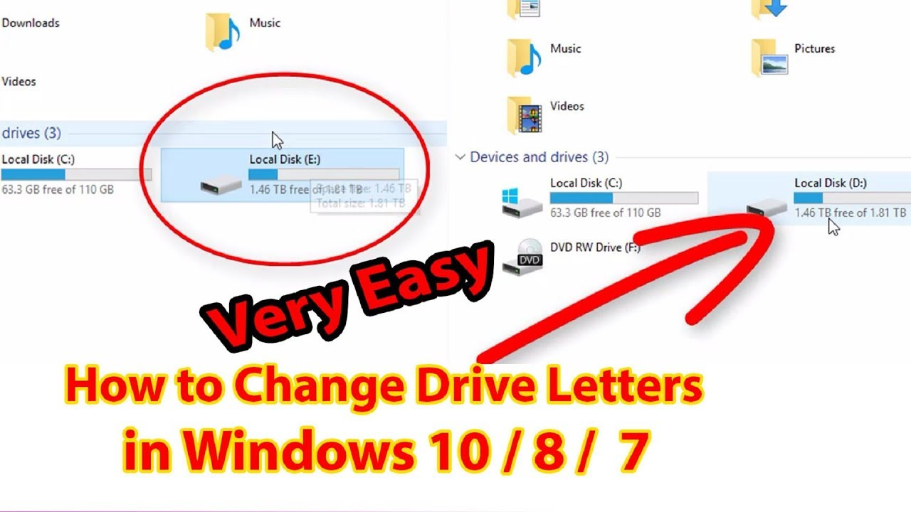 how to change drive letter how to change drive letters in windows 10 8 7 change 22260