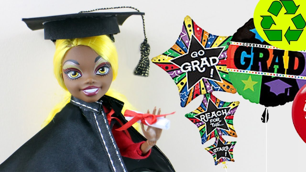 Make Doll Graduation Diploma, Cap and Gown- Doll Crafts ...