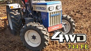 WOW! 😲 4WD Swaraj 744 FE Demo Tractor | Tractor launch COMING  SOON