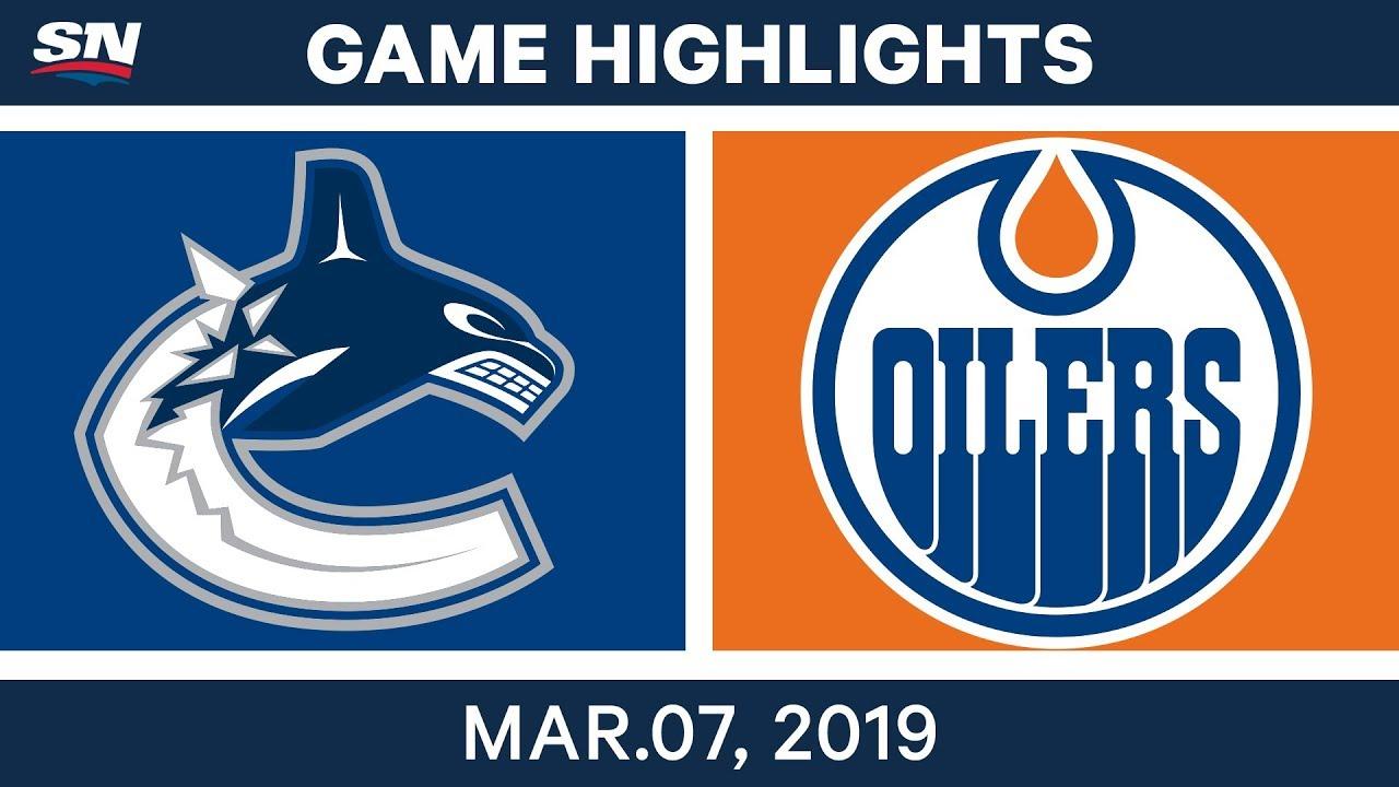 NHL Highlights | Canucks vs. Oilers – Mar 7, 2019 - YouTube