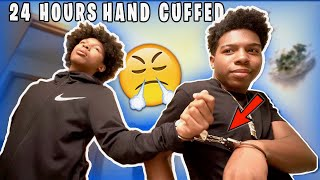 24 HOURS HANDCUFFED TO MY LIL BROTHER! *terrible*