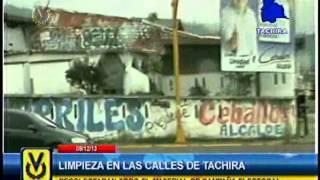 En Táchira realizan limpieza de material de campaña tras elecciones