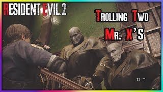 Resident Evil 2 Remake Glitches - Trolling Two Mr.X's