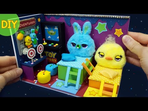 DIY Miniature Dollhouse -  Toystory4 Ducky & Bunny Room Decor !