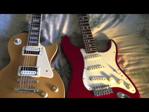 single coils vs humbuckers les paul vs strat tone difference youtube. Black Bedroom Furniture Sets. Home Design Ideas