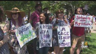 Hundreds Participate In Boston Wayfair Walkout