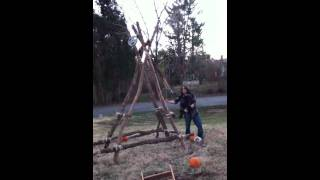 Homemade Pumpkin Catapult Fail