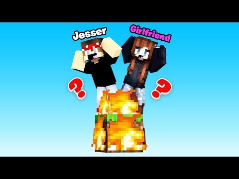 OUR 1 BLOCK WORLD IS ON FIRE - Minecraft W/ My Girlfriend