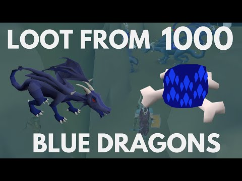 LOOT FROM 1000 BLUE DRAGONS - Oldschool Runescape