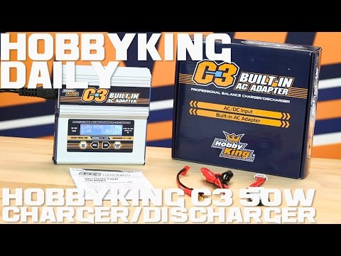 HobbyKing C3 50W Charger/Discharger (AC/DC) - HobbyKing Daily