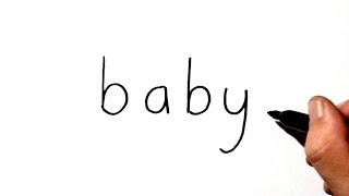 How to Draw a Baby Using the Word Baby