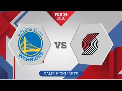 Golden State Warriors vs Portland Trail Blazers: February 14, 2018