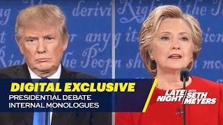 Presidential Debate Internal Monologues: Digital Exclusive