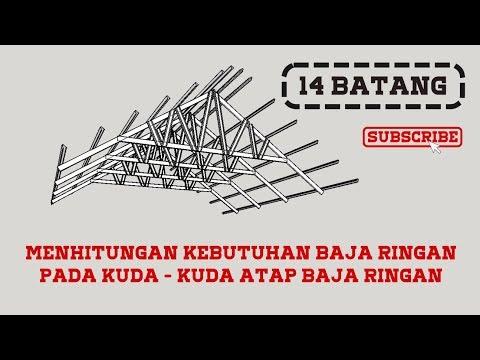 menghitung kebutuhan baja ringan untuk atap pada rangka