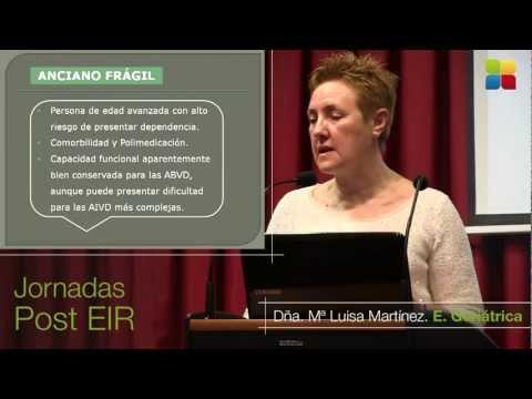 "Sesión Plenaria EIR ""Enfermería Geriátrica"", María Luisa Martínez"