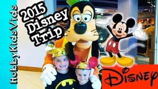 2015 Disneyland Trip! Downtown Disney, Hotel+California Adventure HobbyKidsVids