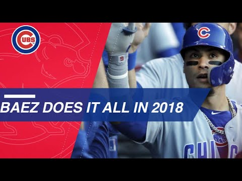 Baez Does It All For The Cubs In 2018