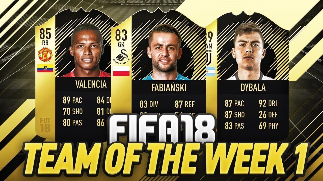 PIERWSZY TOTW FIFA 18!!!!!