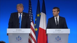 President Donald Trump, French Pres. Emmanuel Macron full remarks in Paris