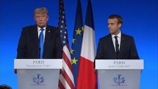 President Donald Trump, French Pres. Emmanuel Macron full remarks in Paris